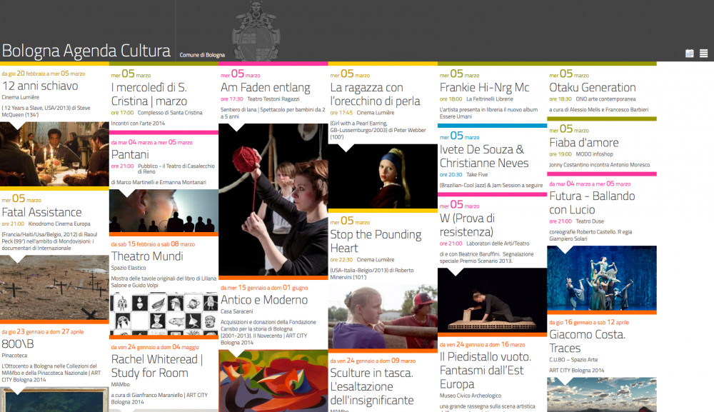 Screenshot of Agenda Cultura