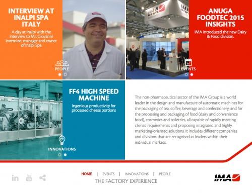 IMA Experience - home page sezioni